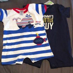 Little beginnings/ carters 0-3 month onesie